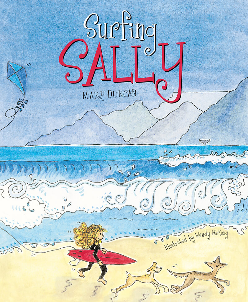 Surfing Sally children's book front cover